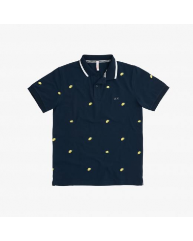 POLO SUN68 UOMO FULL EMBRODERY EL