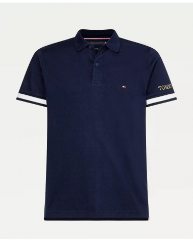 POLO TOMMY HILGIGER  FLAG CUFF SLIM POLO