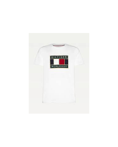 T SHIRT TOMMY HILFIGER GLOBAL FLAG RELAXED TEE